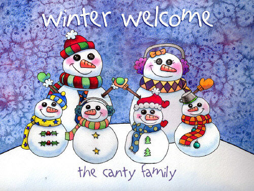 Personalized Snowman Family Slate Plaque 63137727