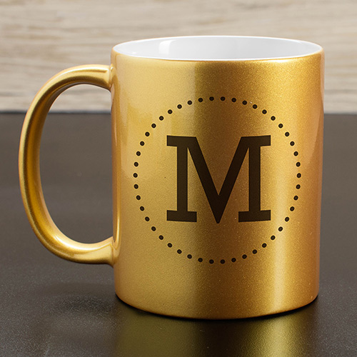 Personalized Initial Metallic Mug U1089496X