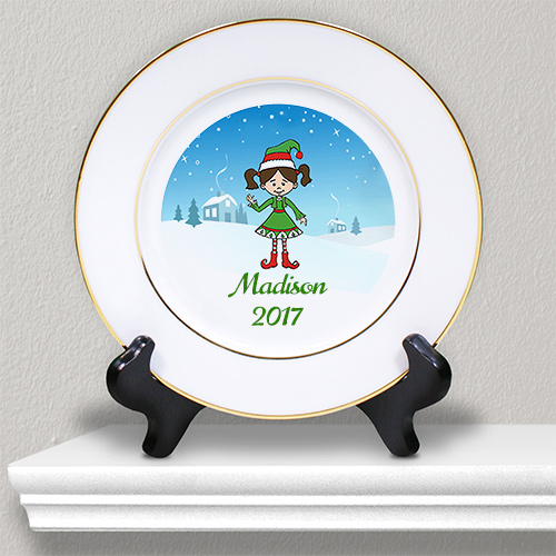Personalized 	Holiday Character Kids Plate U975812