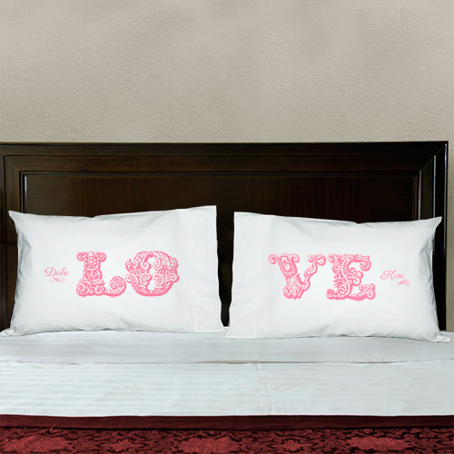 Personalized Love Pillowcase Set | Romantic Gifts For Valentine's