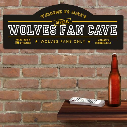 Sports Fan Wall Sign | Personalized Bar Signs
