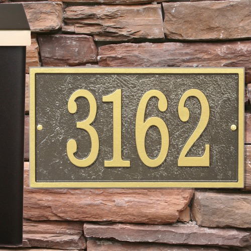 Rectangle House Numbers Plaque | Personalized Housewarming Gifts