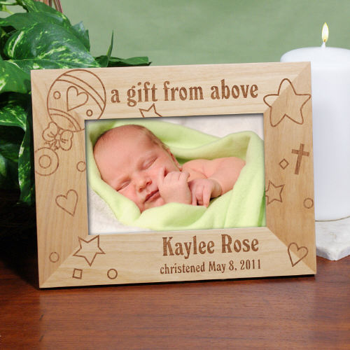 Baby Rattle Baby Wood Picture Frame