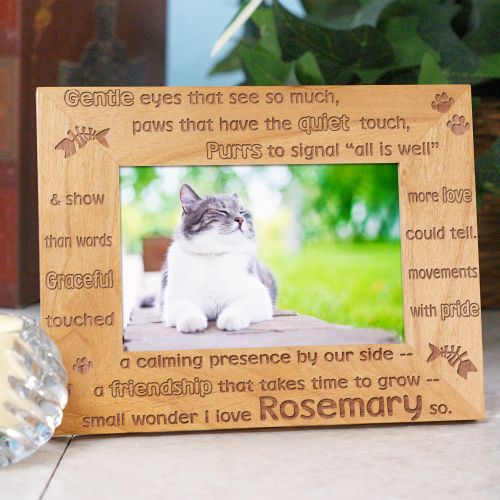 Personalized Cat Wood Picture Frame