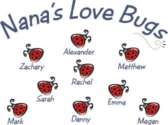 Love Bugs Personalized Apron