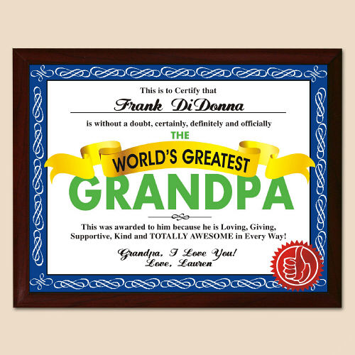 World's Greatest Dad Personalized Plaque