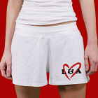 You & Me Ladies White Cotton Shorts