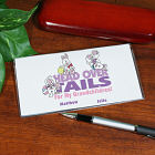 Head Over Tails Personalized Checkbook Cover