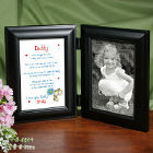 I Love You, Daddy Black Bi-Fold Personalize Picture Frame