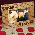 I Love You Personalized Wood Picture Frame