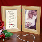 Marriage Takes Three Natural Wood Bi-Fold Personalized Picture Frame