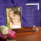 Personalized Mother's Day Frame - Beveled Glass Picture Frame