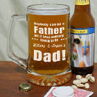Anybody Can Be...Dad Sports Glass Mug