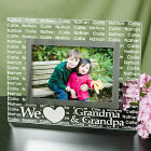 We Love... Personalized Glass Picture Frame G98671