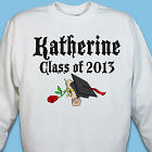 Diploma Rose Class Of Personalized Graduation Sweatshirt