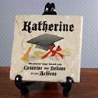 Conceive, Believe, Achieve Personalized Graduation Tumbled Stone Plaque