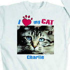 I Love My Cat Personalized Photo Sweatshirt