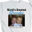 World's Greatest Personalized Photo Sweatshirt