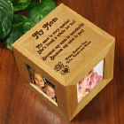 Personalized Mothers Day Photo Cube - Because My Mom is you