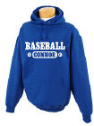 Personalized Baseball Hooded Youth Sweatshirt