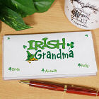 Irish Personalized Checkbook Cover