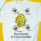 Un-bee-lievable Personalized Sweatshirt