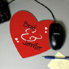 Couples Heart Shaped Mouse Pad