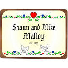Established Love Wedding Personalized Wall Sign