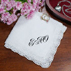 Any Initals Personalized Ladies Handkerchief