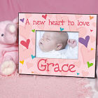 "New Baby ""She's All Heart"" Personalized Printed Frame"