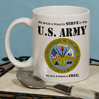 Proud To Serve Personalized Military Ceramic Coffee Mug