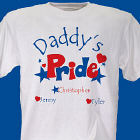 Heart and Stars Pride T-Shirt Personalized Fathers Day Shirt