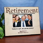 Personalized Retirement Printed Frame