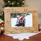 Personalized Holiday Memories Wood Picture Frame