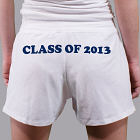 Class of - Ladies White Cotton Shorts