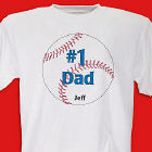 Personalized 1 Baseball Fan T-shirt