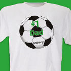 Personalized 1 Soccer Fan T-shirt