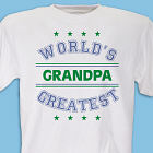World's Greatest - Blue Personalized T-shirt