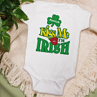 Kiss Me I'm Irish Personalized Infant Creeper