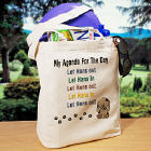 Agenda For The Day Personalized Canvas Tote Bag
