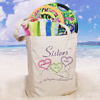 Sisters Heartstrings Personalized Totebag