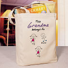 Belongs To Personalized Canvas Tote Bag