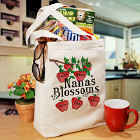 Blossoms Personalized Canvas Tote Bag