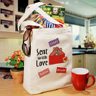 Sent With Love Personalized Canvas Valentine Tote Bag