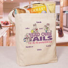 Head Over Tails Personalized Canvas Tote Bag