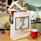 Initially Yours Personalized Canvas Tote Bag