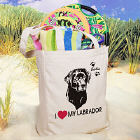 I Love My Dog Personalized Canvas Tote Bag