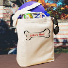 Doggy's Owner Personalized Canvas Tote Bag