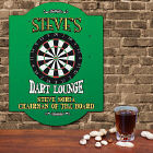 Personalized Dart Lounge Wall Sign