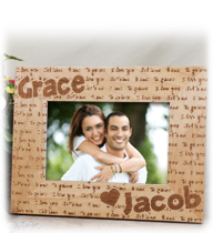 Personalized Valentine's Day Picture Frames and Canvas